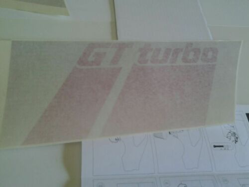 kIT STICKERS RENAULT SUPER 5 GT TURBO PHASE 2 FOR WHITE AND SILVER GRAY GTT