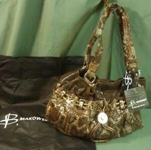 Image Is Loading B Makowsky Brianna E W Per Espresso Leather Handbag
