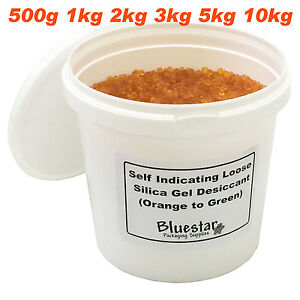 Silica-Gel-Desiccant-Granules-Beads-Self-Indicating-Loose-In-Resealable-Tubs