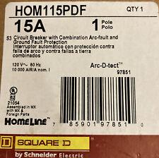 5x Square D Homeline Hom115pdf Hom115pdfc 15 Amp Dual Function Breaker