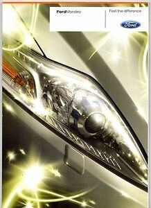 Image Is Loading Ford Mondeo   Uk Market Sales Brochure