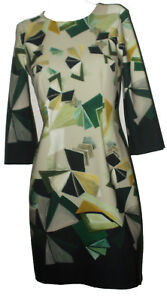 Vestiti Eleganti Taglia 42.Vestito Abito Vestitino Elegante Corto Donna Luisella Mariani Verde