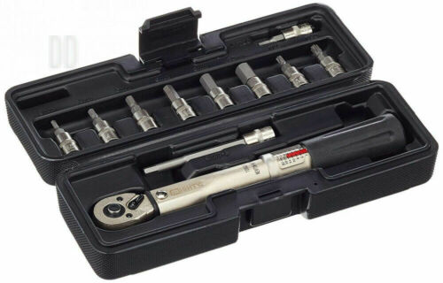 """Mighty Torque Wrench 1//4 /"""" Adjustable from 2-24 NM Incl.10 Bits"""