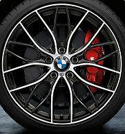 """BMW OEM F22 2 Series Coupe BMW 19"""" LA Wheel M Double Spoke 405"""