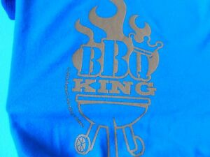 bbq king size small blue dog t shirt new  blue barbcue shirt - Rochester, United Kingdom - bbq king size small blue dog t shirt new  blue barbcue shirt - Rochester, United Kingdom