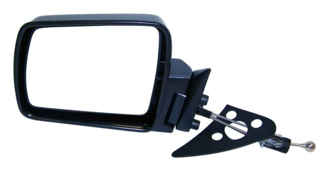 84-96 Cherokee Manual Smooth Black Rear View Door Mirror Right Passenger Side RH