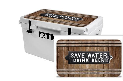 Custom Refroidisseur Accessoires Wrap Sticker Decal Fits RTIC 45 Qt Couvercle bière Bièrofski