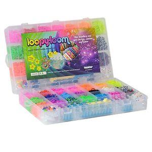 4200 Pcs Kit Box + up to 10,000 Rubber Loom Bands Board Bracelet Making DIY Set