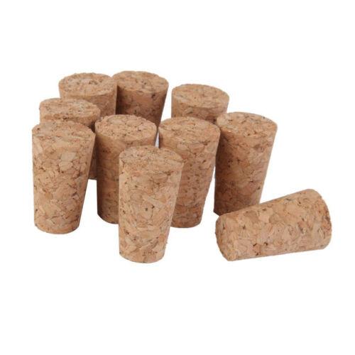 10pcs//Set Tapered Natural Cork Bottle Stoppers Wine Corks Crafts