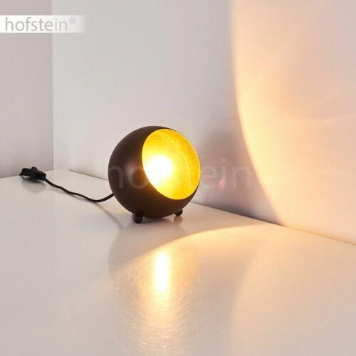 Retro Wohn Schlaf Zimmer Lampen Kugel Tisch Nacht Schreib Leuchten schwarz//gold