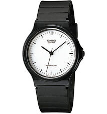 Casio MQ24-7E, Classic Analog Watch, Black Resin, White Dial, Water Resistant