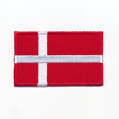 40 x 25 mm D/änemark Kopenhagen Europa Flagge Flag Aufn/äher Aufb/ügler 0947 A