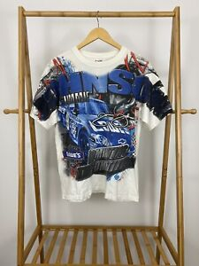 VTG-Jimmie-Johnson-Nascar-All-Over-Print-Dominating-The-Competition-T-Shirt-Sz-L
