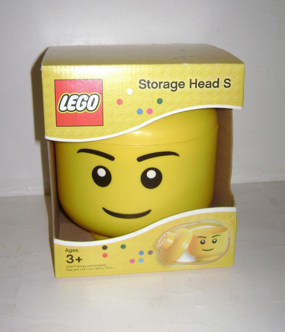 nuovo LEGO Storage Head S gituttio Happy Face giocattolo 6.3  x 7.6 in RETIrosso VERY RARE A  ampia selezione