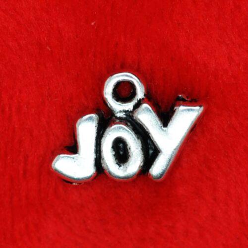 10 X De Plata Tibetana Joy encanto colgante encontrar Molduras la fabricación de joyas
