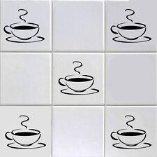 12 x Tazza di Caffè Adesivo Parete / Piastrella Decalcomanie trasformare il tuo MURO CUCINA / BAR / ECT