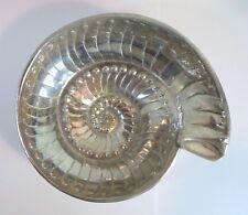 """Vintage MARIPOSA ALUMINUM BOWL - NAUTILUS SHELL SPRIAL DESIGN 6"""" Diameter"""