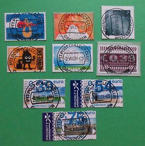 Nederland losse zegels uit NVPH 1985 t/m 1993 euro/gulden 2001 mooi gestempeld