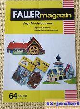 Faller AMS ---  Faller Magazin 64, Mai 1968, Sprache Niederländisch !