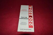 Massey Ferguson 220 220-4 Tractor Comparison Manual HVPA