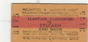 Llanfair-Caereinion-to-Sylfaen-return-used-train-ticket