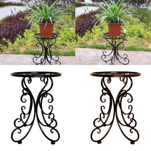 Metall Töpfe Pflanzenständer Halter Garten Balkon Dekor Blume Schmiedeeisen