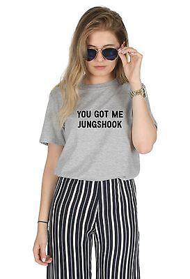 Simbolo Del Marchio Mi Hai Jungshook T-shirt Girocollo Kpop Bts Fangirl Jungkook-mostra Il Titolo Originale
