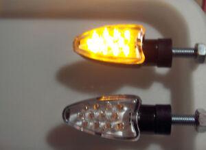►4X YAMAHA TT600,FZX 750 Phaser,TZ750,TDM 900 LED BLINKER SPEAR SCHWARZ OPTIK