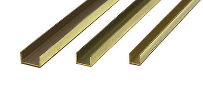 1 Piece per Pack 3//16 X .014 Wall Thickness X 300mm Long Made in The USA K/&S Precision Metals 9886 Brass Channel