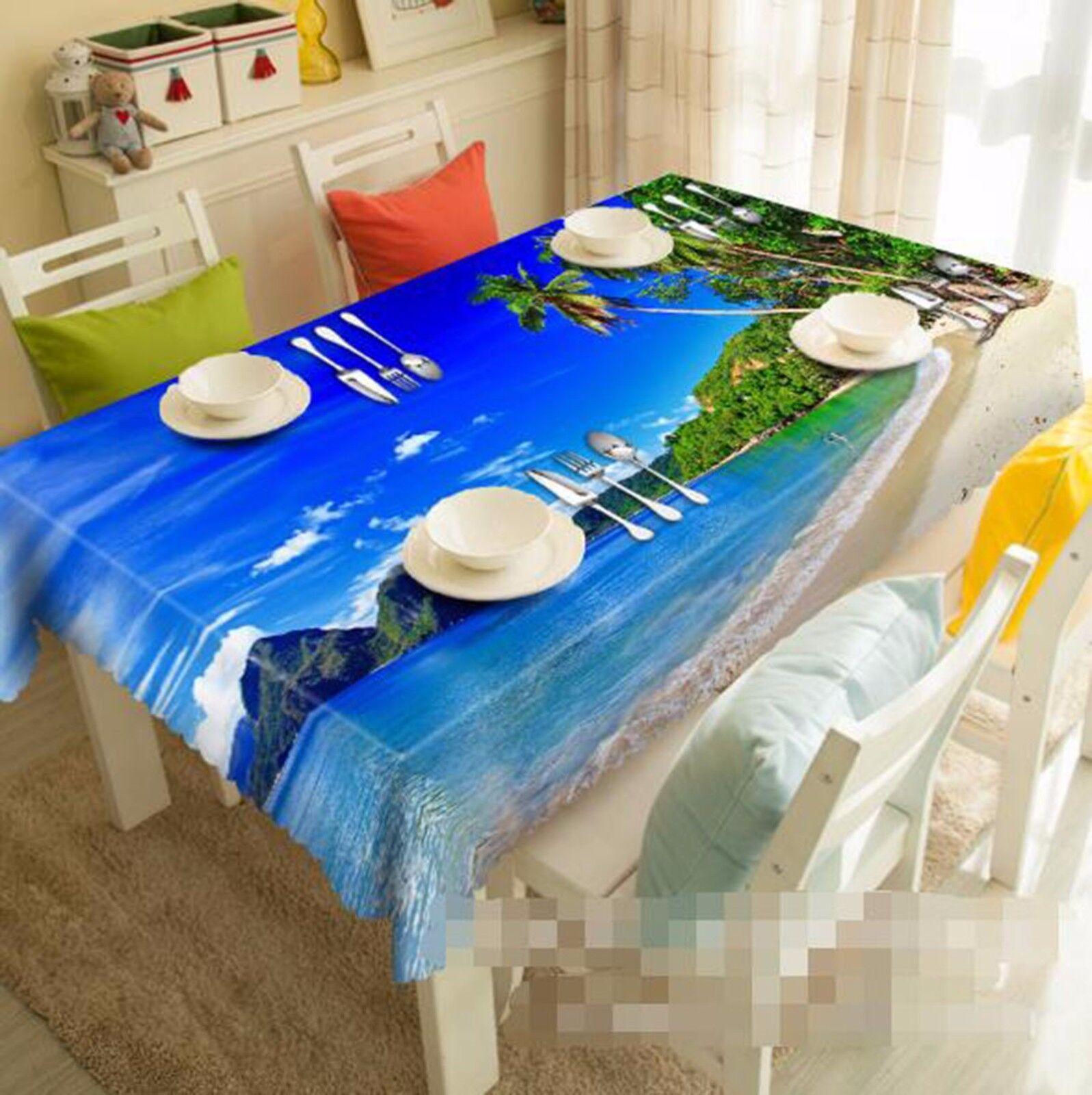 3D OCEAN 57 Nappe Table Cover Cloth fête d'anniversaire AJ papier peint Royaume-Uni Citron