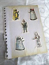 DOCTOR WHO weetabix cards DALEKS, ICE WARRIOR vintage 1970's paper items