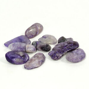 25255d77b8c9b Details about 38 Carat Natural Charoite Pebble Purple Mineral Russian  Crystal Gemstone - 10PCS