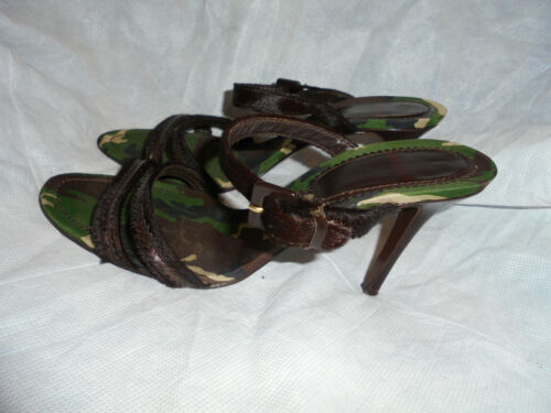6 Vgc Camouflage Army Women's Uk Slip 39 Eu Sandals On Size Heel Joseph qaZBz7nwff