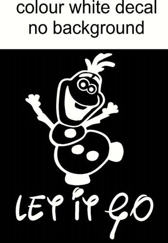 Olaf Let It Go Autocollant Drôle de toilette siège de toilette Frozen Disney Style Mur Autocollant Vinyle 7