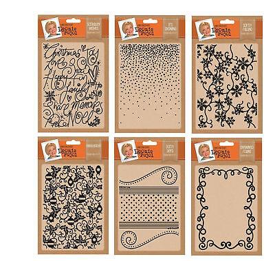 "Leonie Pujol Crafters Companion Xmas Embossing folders 5/"" x 7/"""