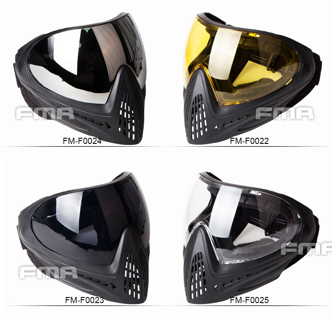 FMA FM-F0001 Paintball Airsoft Safety Goggle   Full Face Mask Eye Face Predecter