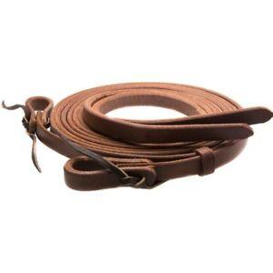 Western-Brown-Color-Leather-Split-Reins-with-Water-Loop