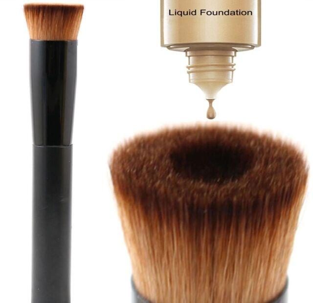 Glamza Makeup Liquid Foundation Powder Brush Make Up Cosmetics Tools Contour