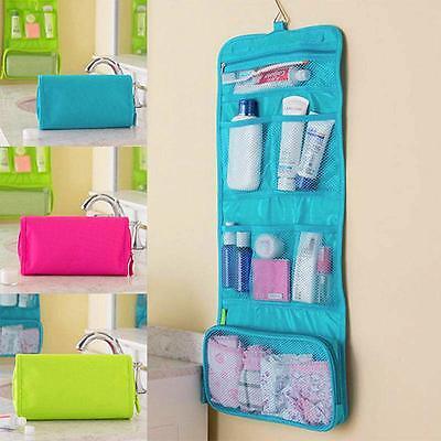 Travel Toiletry Storage Hanging Wash Makeup Cosmetic Case Folding Organizer Bag