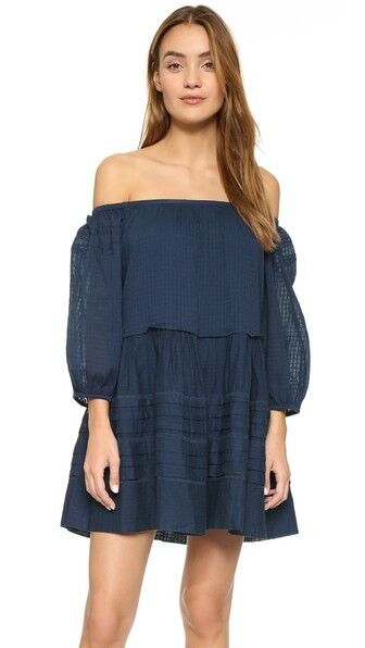 NWT FREE PEOPLE Candy Shop Mini Dress in Midnight Blau  - M
