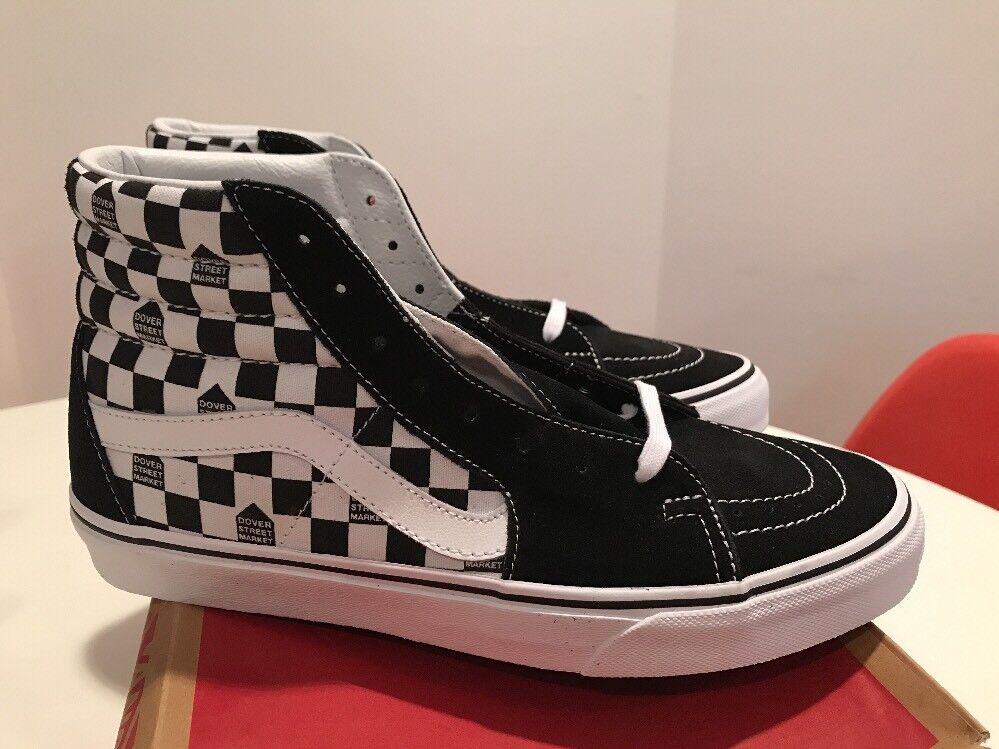 Vans DSM SK8-HI Black White Checker Dover Street Market SIZE 10 Brand New RARE