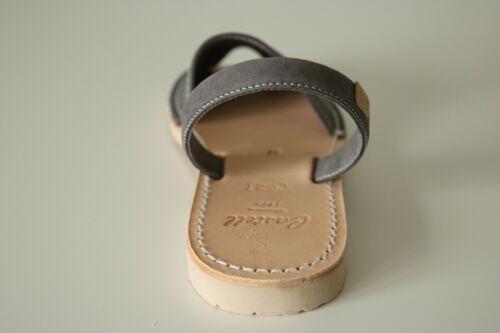 Gray newbuck Cuir Minorque Avarca Sandales TAILLES UK 3-8