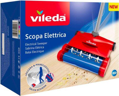 Vileda Scopa elettrica senza Fili Cordless senza Sacco 2 Spazzole rotanti Ricari
