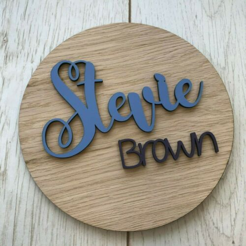 Circle Sign Large Plaque Personalised wooden name logo plaque  Wall Sign