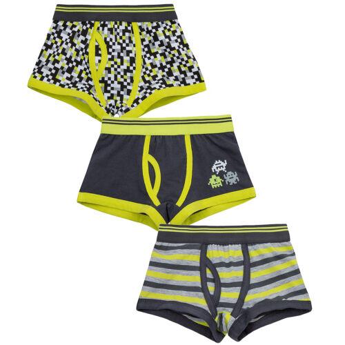 Boys Kids Childrens Trunks Boxer Shorts Cotton 3 Pk Elasticated Waist Underwear