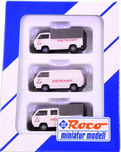 – 3-teiliges Set VW T2 1:87 HEITKAMP Roco 1566