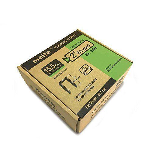 Meite 15.5GA 1 2-Inch Crown 2-Inch Length Hardwood Flooring Staples 5014PCS Box