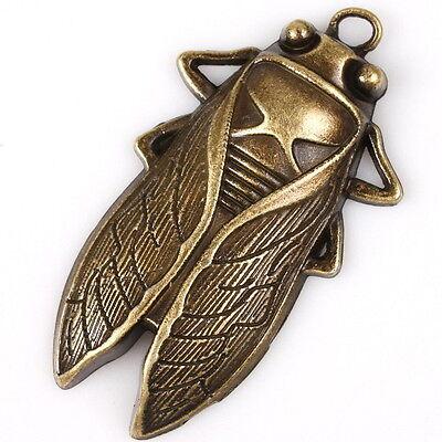 5pcs Anhänger Pendant Alloy Legierung Bronze Zikade Form Accessoires 145653