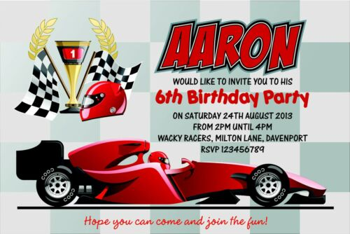 cars birthday invitations, Birthday invitations