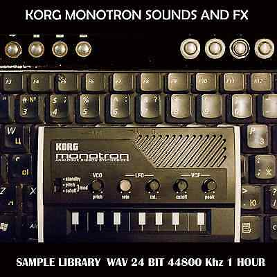 KORG MONOTRON sample library - vintage analog synth samples of synthesizer    eBay